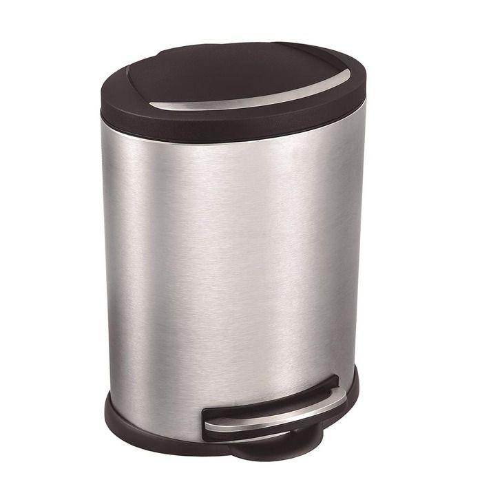 Lixeira Inox com Pedal Onix 5L - Mor