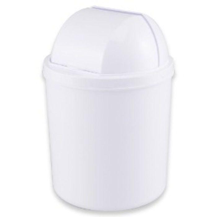 Lixeira com Tampa Retratil 3 litros Branca