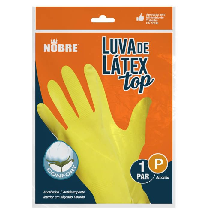 Luva Latéx P Amarelo - Nobre