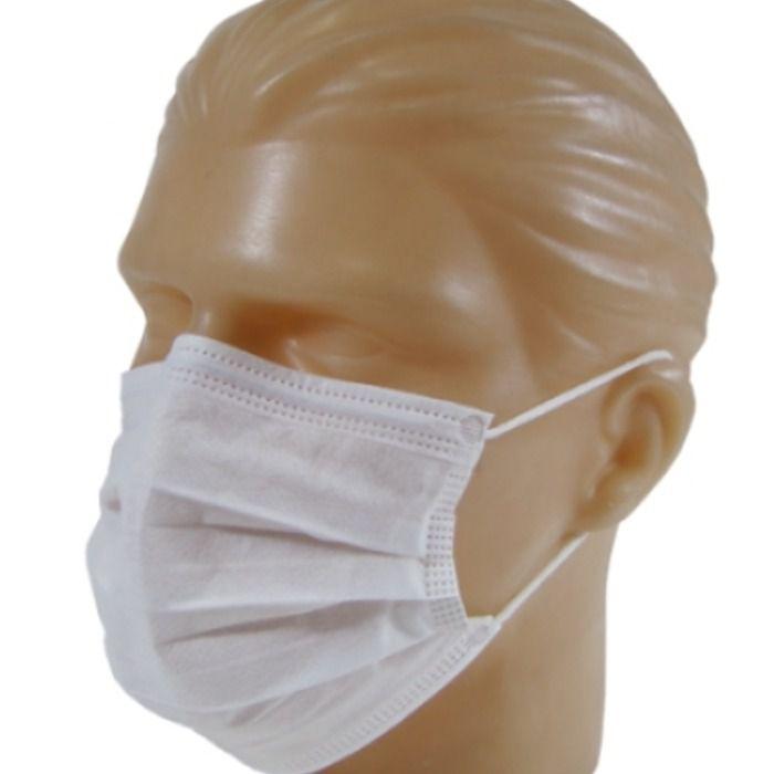 Máscara Branca TNT com Elástico com 100 Unidades - Nobre
