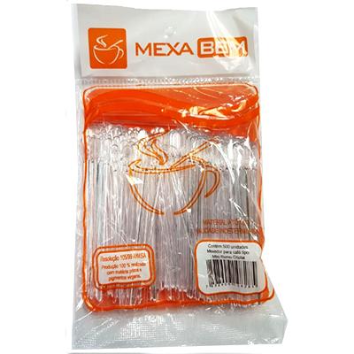 Mexedor Para Café Mini Remo 8,5CM Cristal Pacote Com 500 Unidades - Mexa Bem