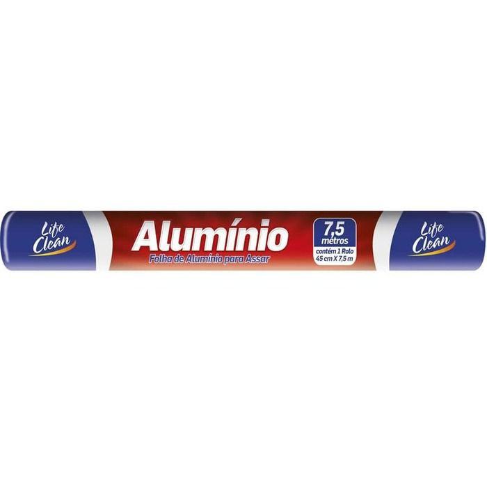 Papel Alumínio 30cmx7,5m Life Clean