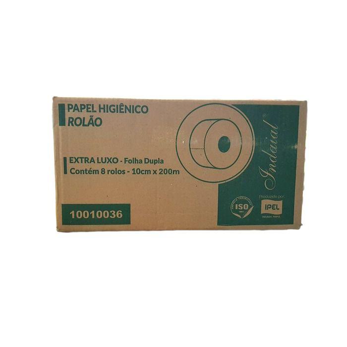 Papel Higiênico Extra Luxo Folha Dupla 8 Rolos - Indaial