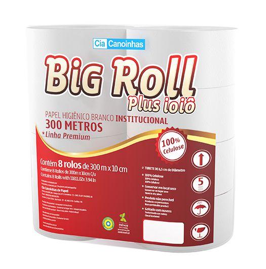 Papel Higiênico Luxo 8 Rolos 300 Metros - Big Roll