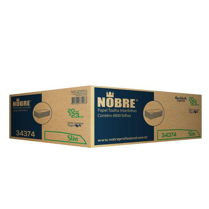 Papel Toalha Interfolha 2 Dobras Celulose Com 4800 Folhas - Nobre
