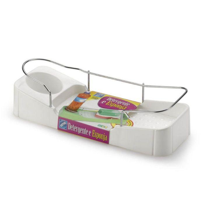 Porta Detergente/Esponja com Proteção Cromada - Arthi