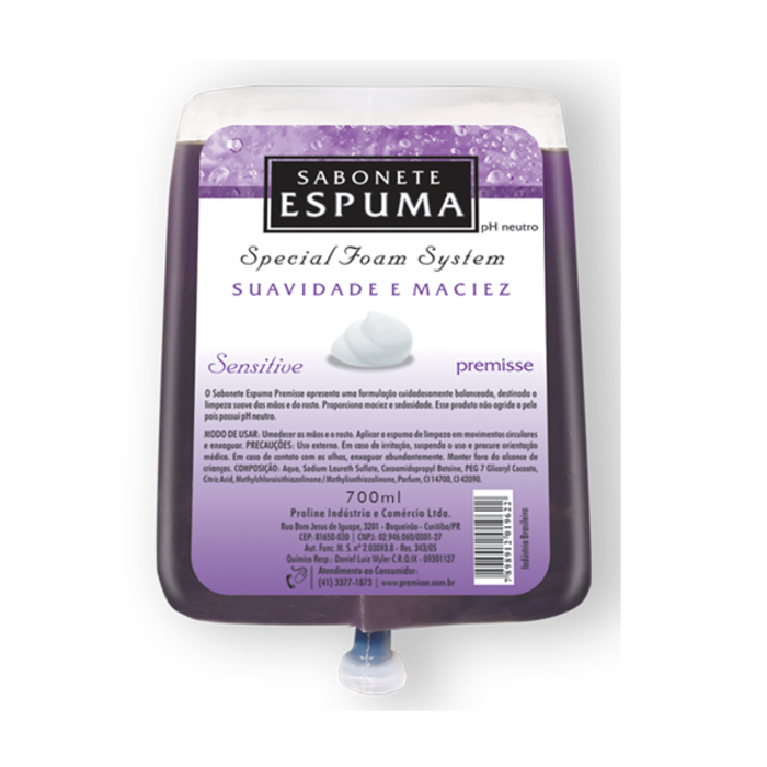 Sabonete Espuma Sensitive 700ML - Premisse