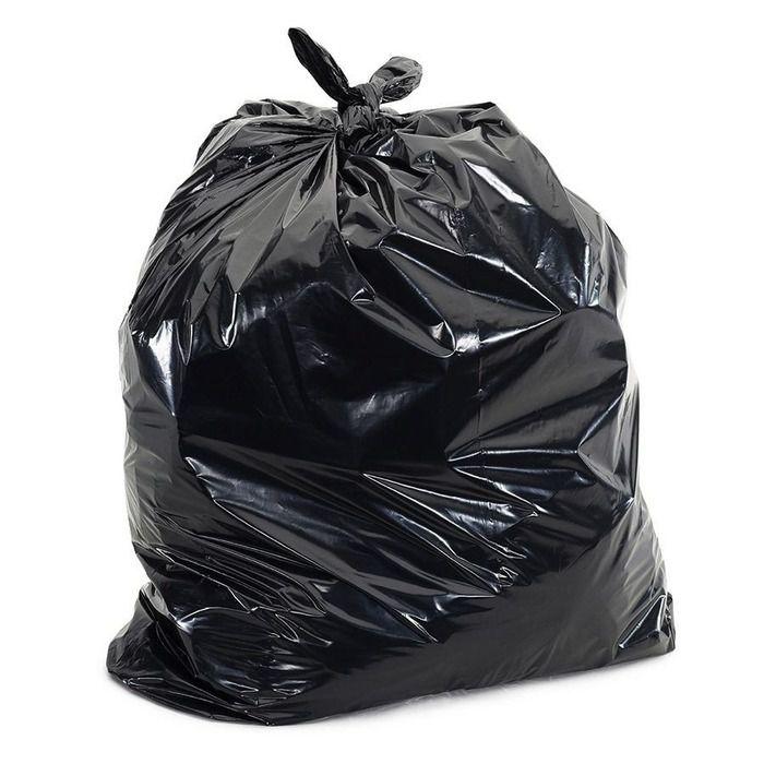 Saco Para Lixo 100L Reforçado P6 Com 100 Unidades Preto