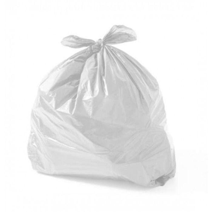 Saco Para Lixo 20L Branco Leitoso Com 100 Unidades