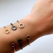 Bracelete Círculos Semijoia