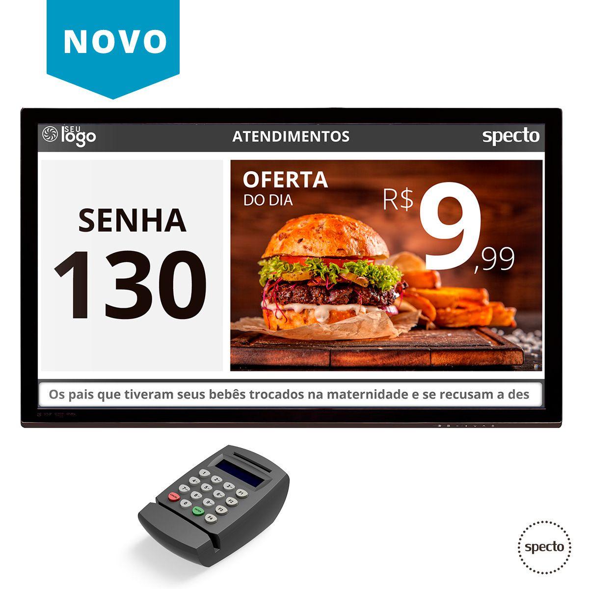 CHAMADOR DE COMANDA NA TV (COM TECLADO) - CHAPED TV (LOCAÇÃO)  -  Specto Tecnologia