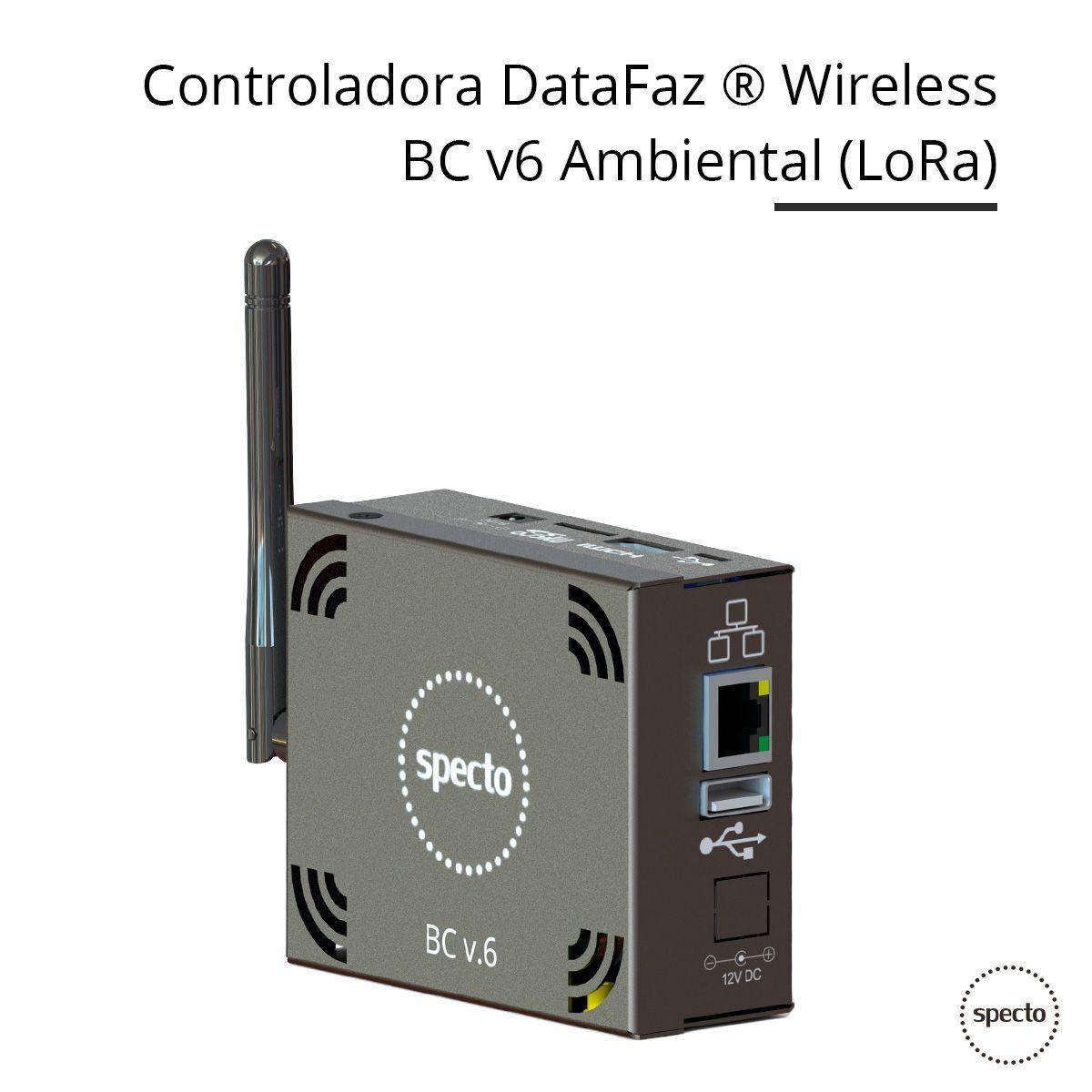 DataFaz ® UNITY WIRELESS - Temperatura, Umidade e Fumaça (Locação)  -  Specto Tecnologia