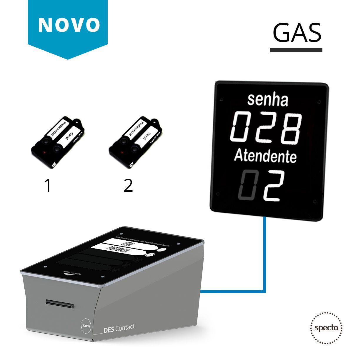 GAS ® Painel de Led Branco + DES Contact  -  Specto Tecnologia