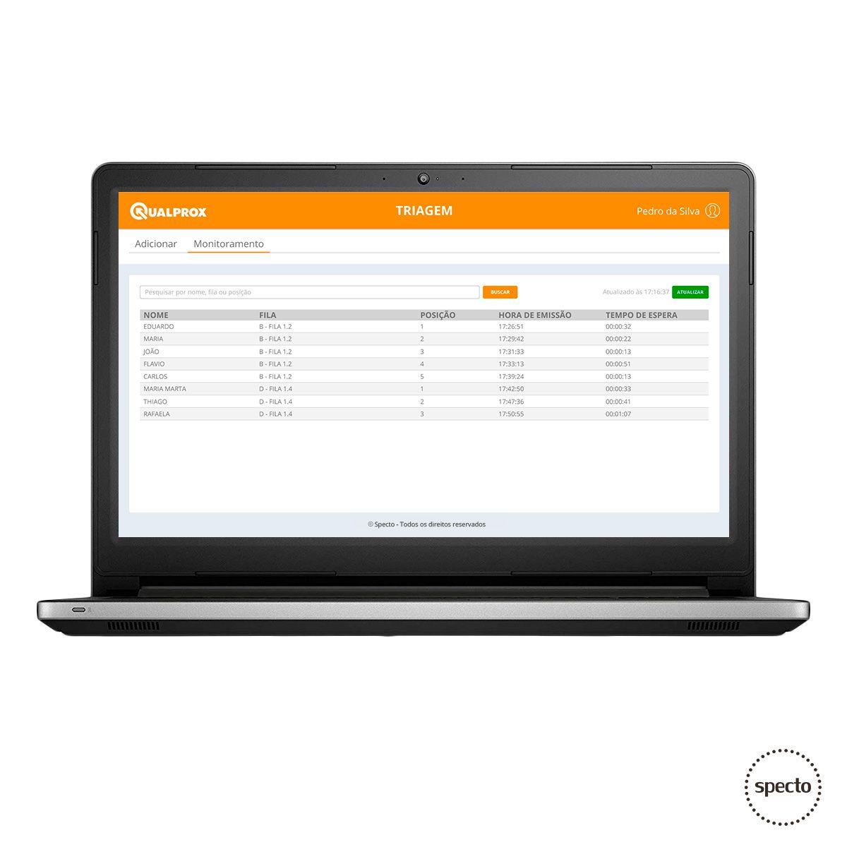 QUALPROX® UNITY NoPrint com Triagem (Locação)  -  Specto Tecnologia