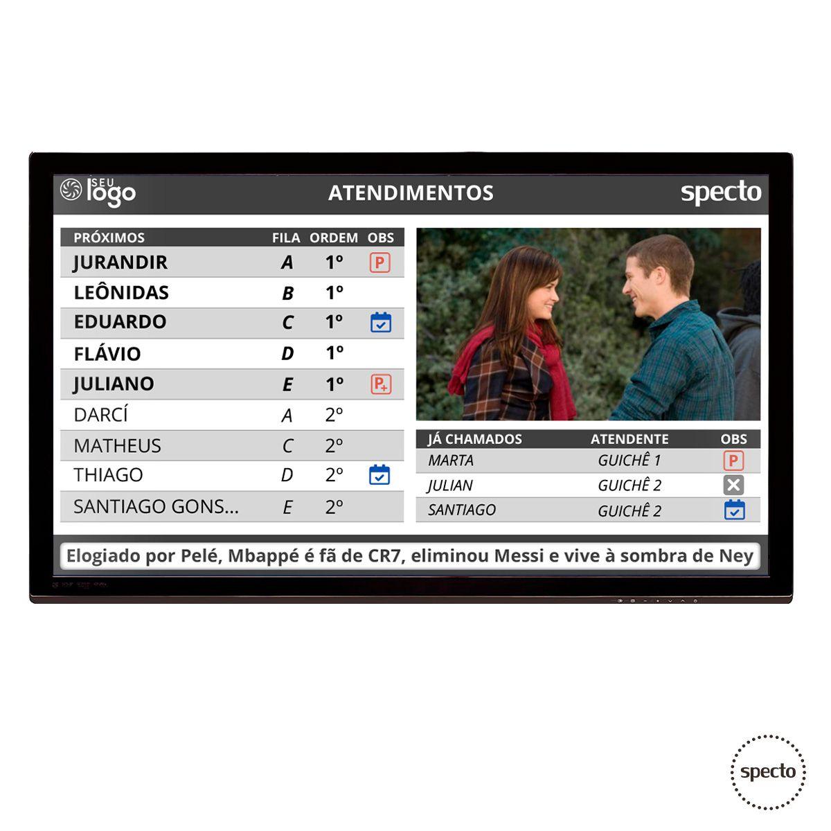 QUALPROX® UNITY NoPrint TV Corporativa com Triagem (Locação)  -  Specto Tecnologia