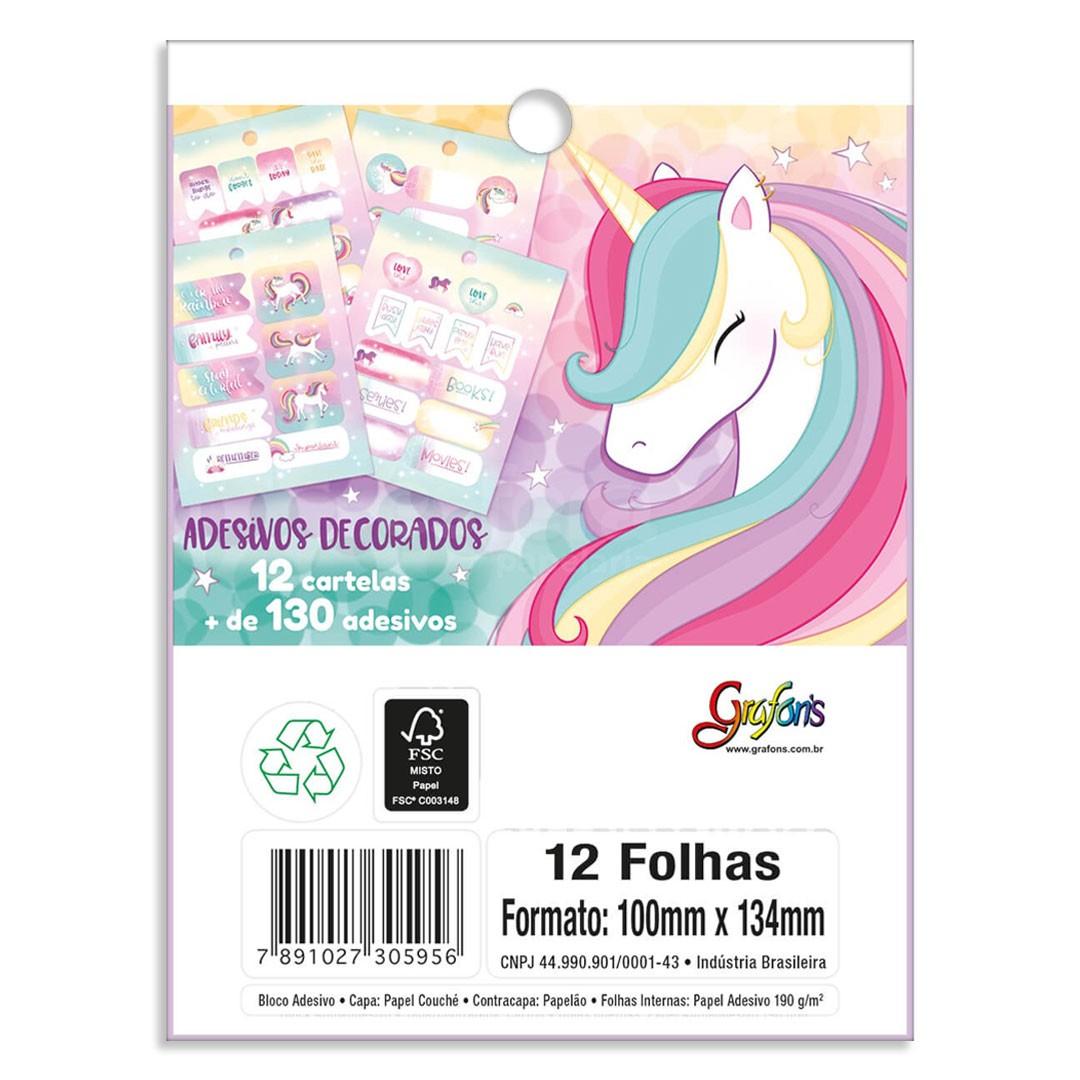 ADESIVO DECORADO BLOCO BLINK 12 FOLHAS 305952 TILIBRA