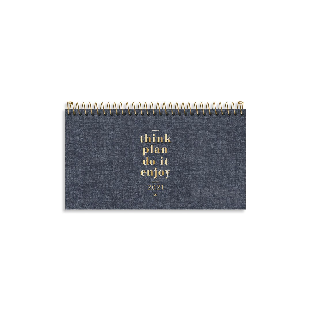 AGENDA ESPIRAL DE BOLSO CAMBRIDGE DENIM M2 315133 TILIBRA