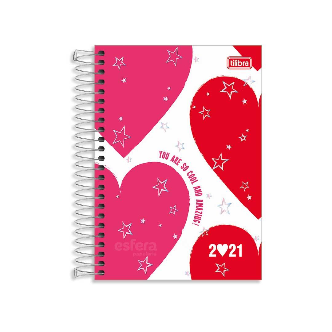AGENDA ESPIRAL LOVE PINK M6 312258 TILIBRA