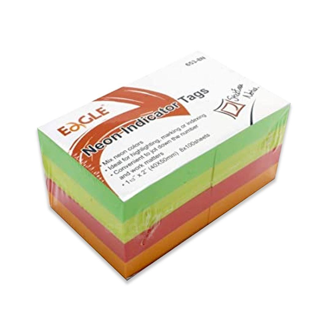 BLOCO ADESIVO COLOR 40X50MM 653-8P EAGLE