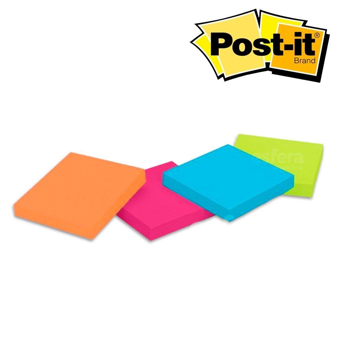 BLOCO ADESIVO POST-IT® 38X50 4BL 50FL TROPICAL 3M