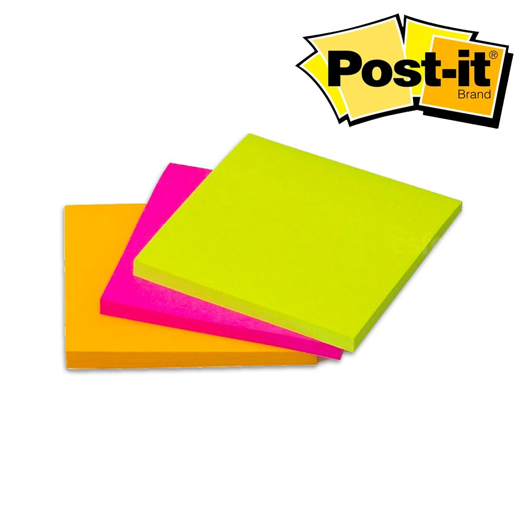 BLOCO ADESIVO POST-IT® 76X76 CASCATA 3BL 45FLS 3M