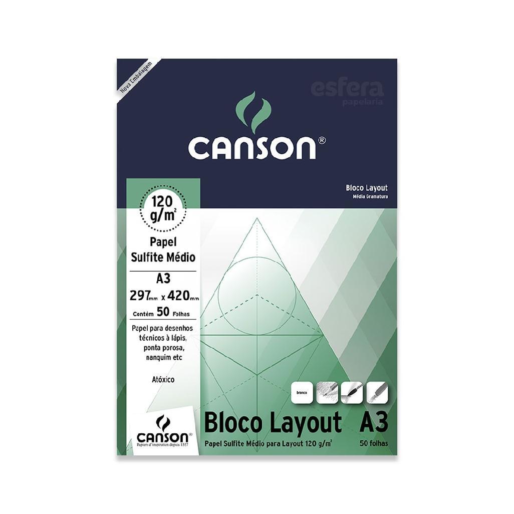 BLOCO LAYOUT ESTUDANTE COM 50 FOLHAS 120GM2 CANSON