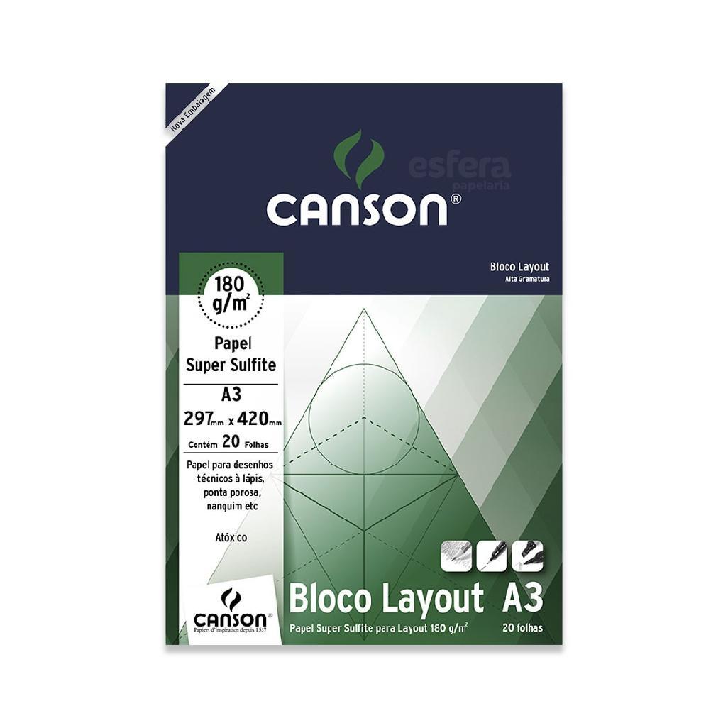 BLOCO LAYOUT TECNICO COM 20 FOLHAS 180GM2 CANSON