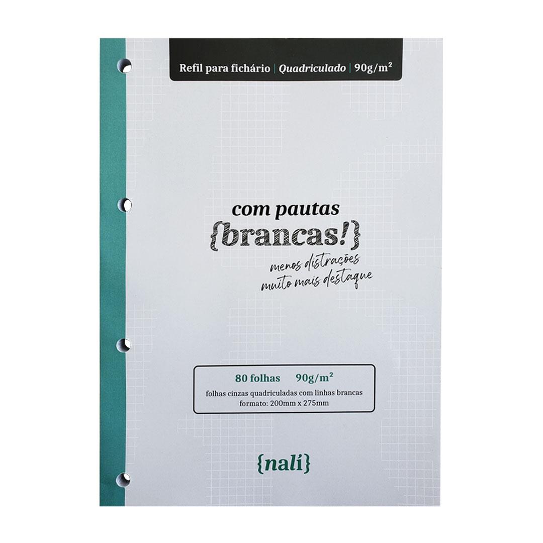 BLOCO NALI PARA FICHARIO UNIVERSITARIO/A4 90G/M2 LINHAS BRANCAS