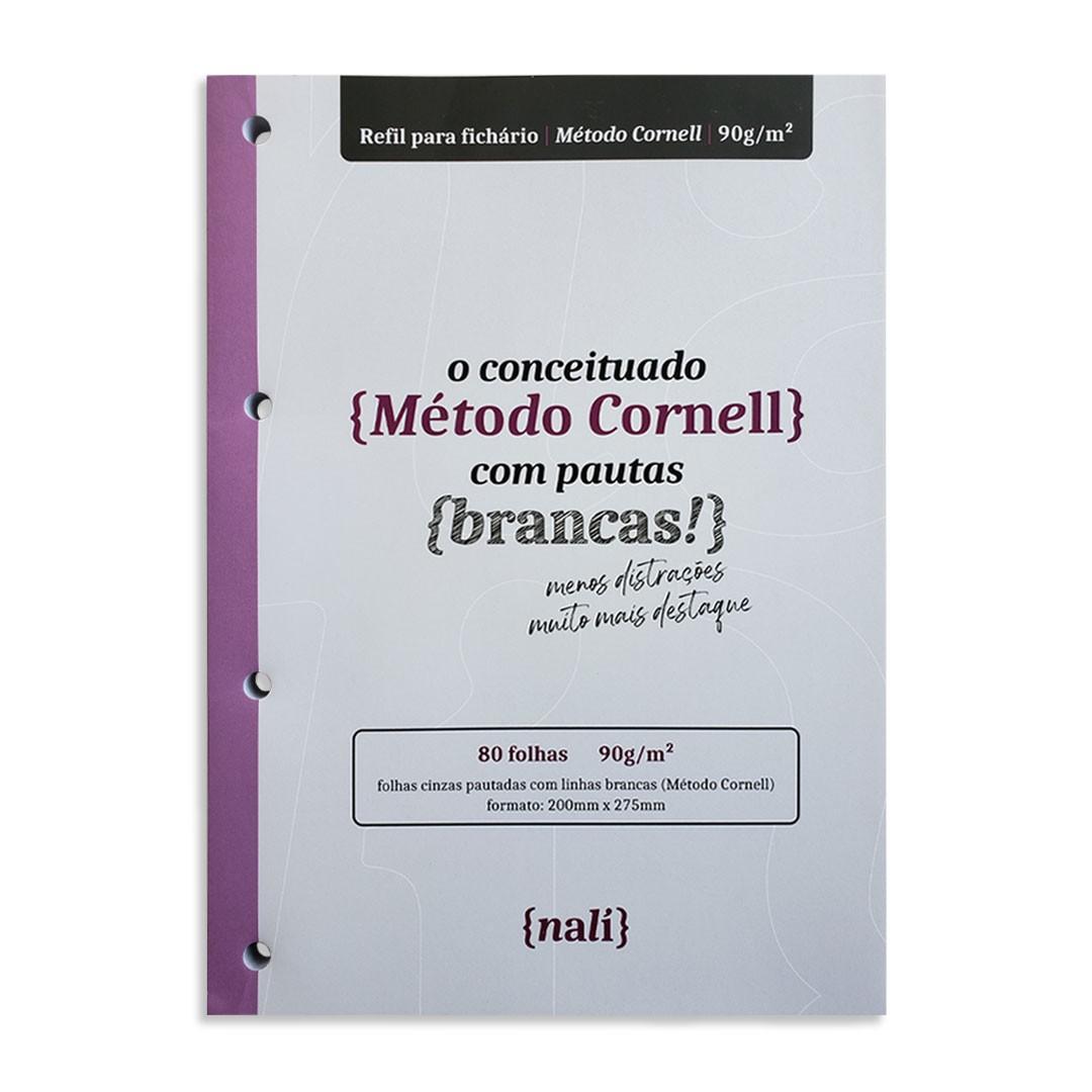 BLOCO NALI PARA FICHARIO 90G/M2 LINHAS BRANCAS METODO CORNELL