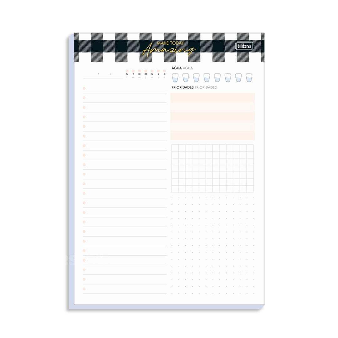 BLOCO PLANNER DIARIO WEST VILLAGE 291137 TILIBRA