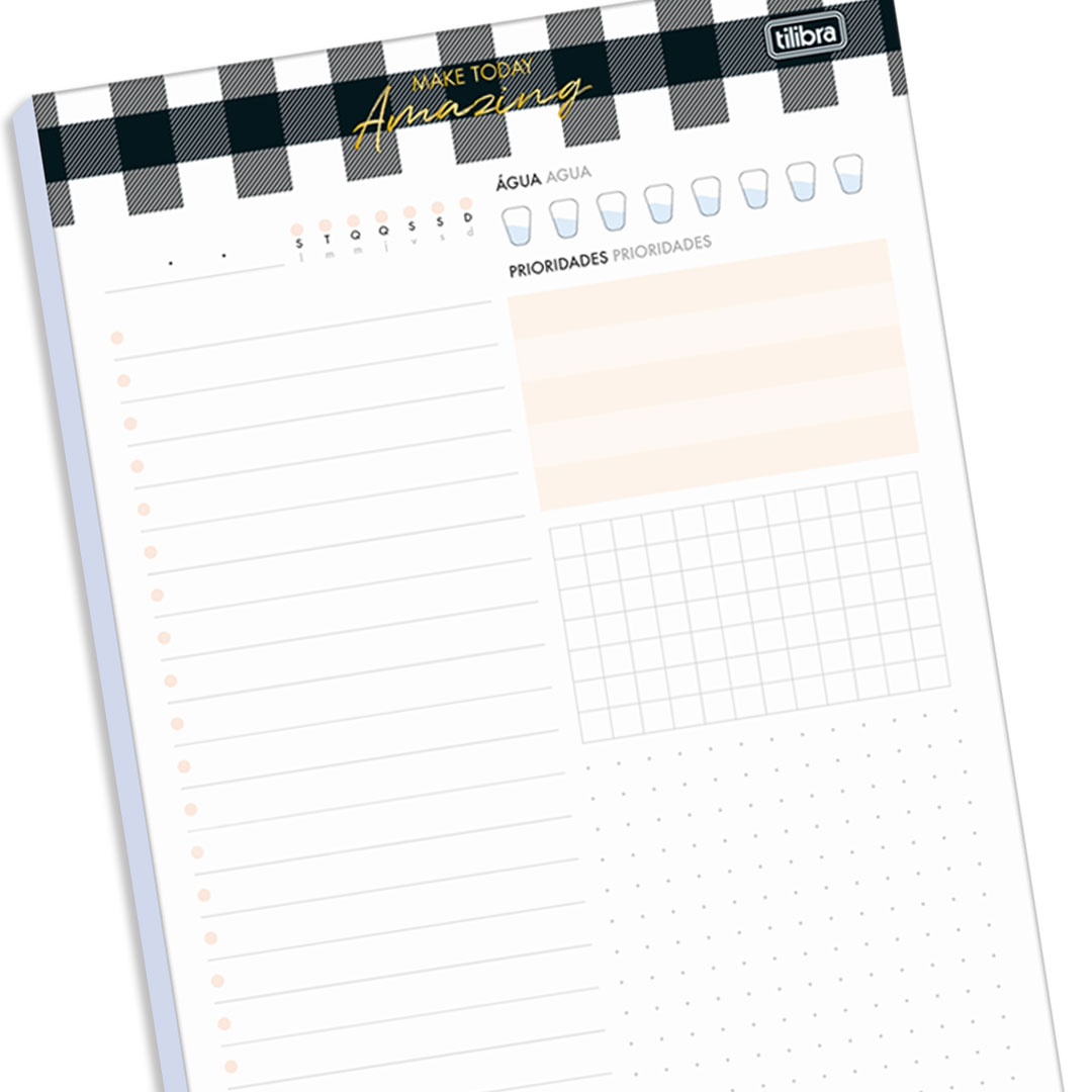 BLOCO PLANNER DIARIO WEST VILLAGE TILIBRA