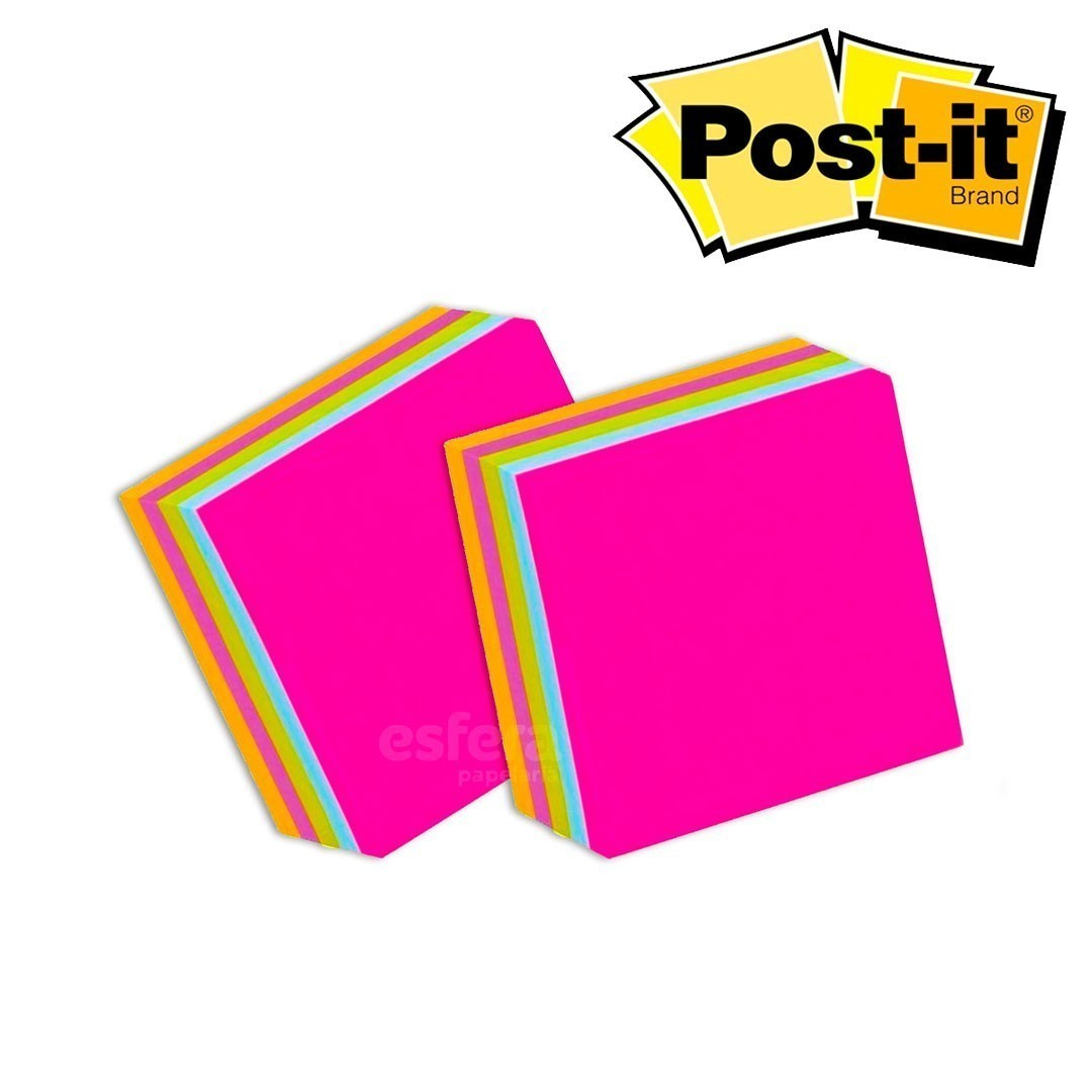 BLOCO POST-IT® CUBO TROPICAL 76X76MM 450F 3M