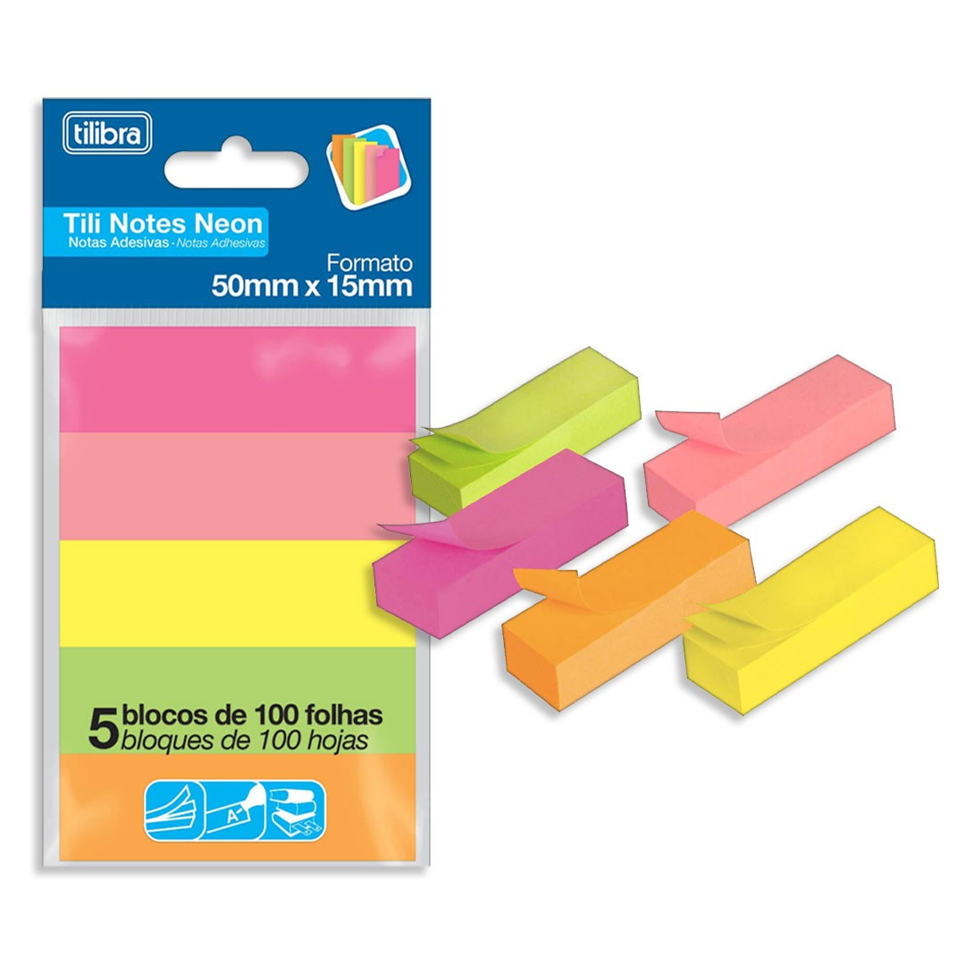 BLOCO TILI NOTES 50X15MM 5C 286311 TILIBRA