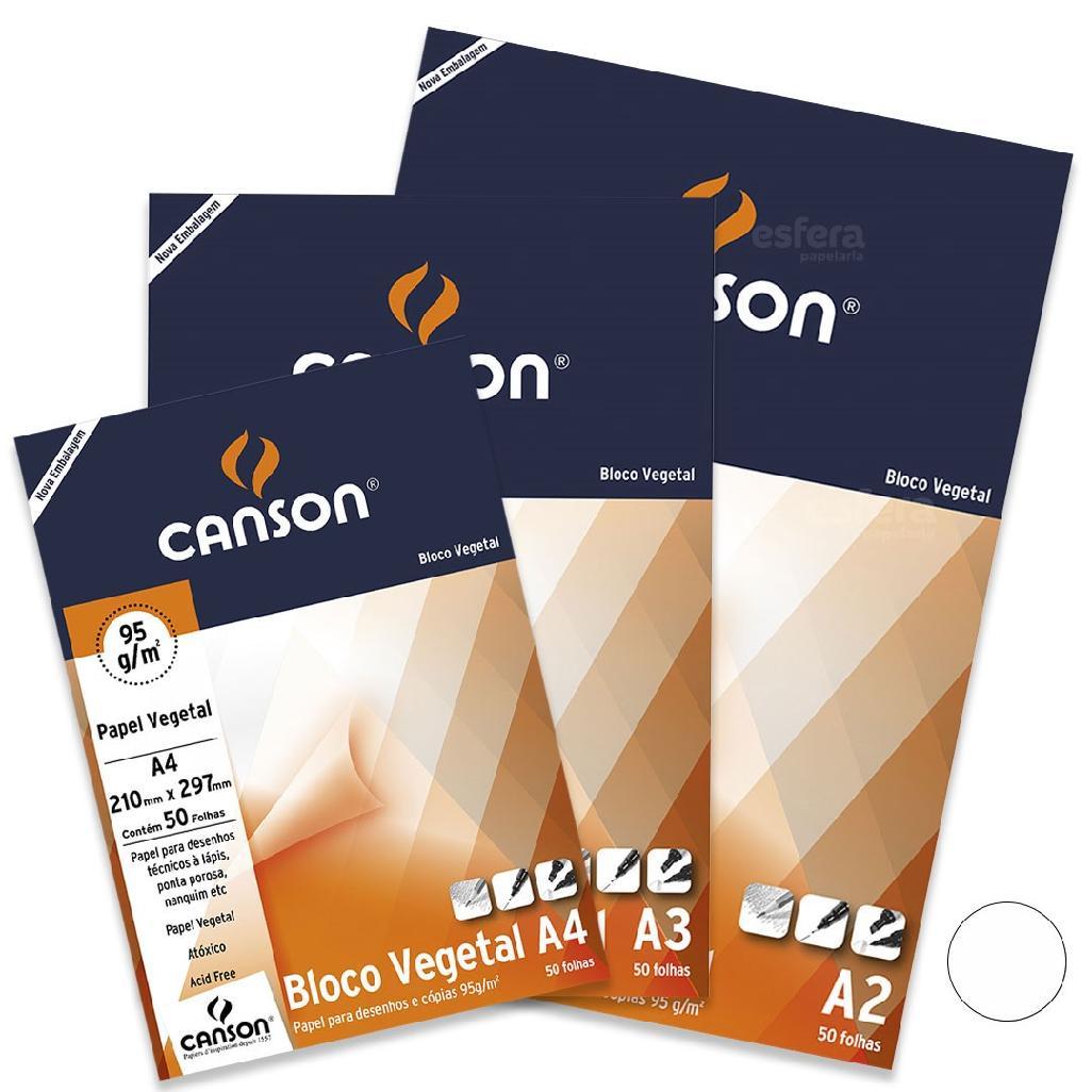 BLOCO VEGETAL TECNICO COM 50 FOLHAS 95GM2 CANSON
