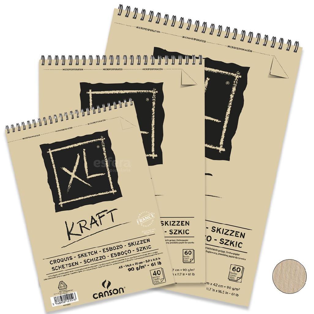 BLOCO XL KRAFT 90GM2 CANSON