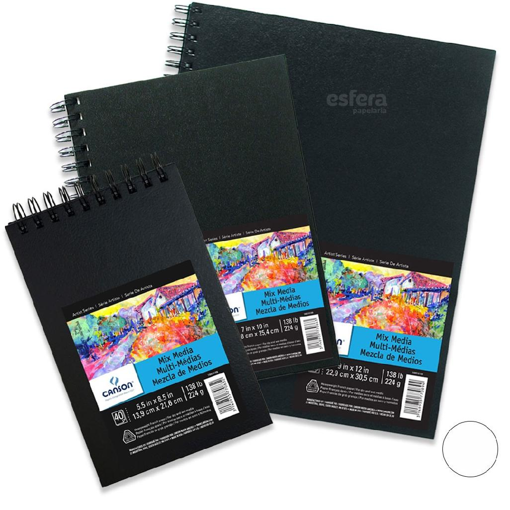 CADERNO ARTBOOK MIX MEDIA 40 FOLHAS 224G CANSON