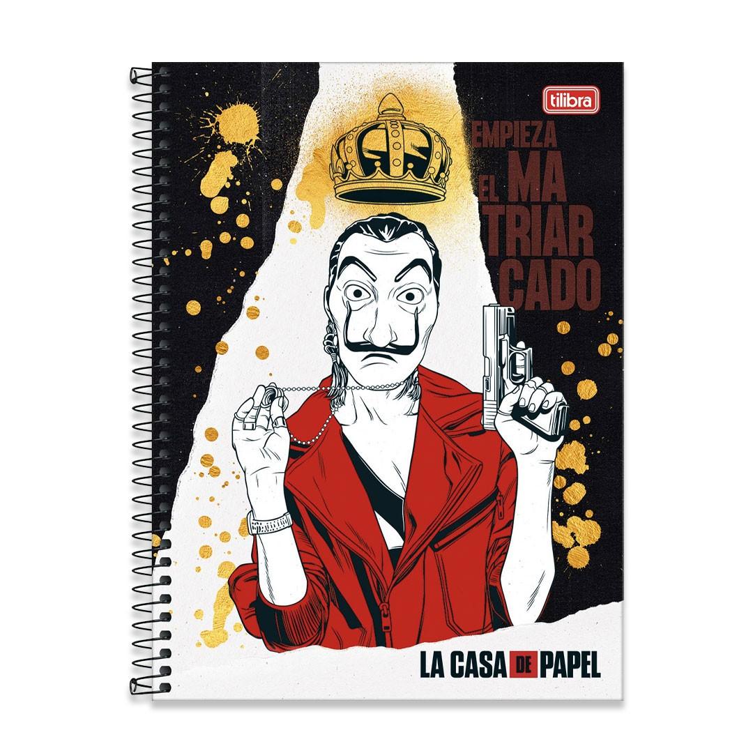 CADERNO CD UNIVERSITARIO LA CASA DE PAPEL 1M 80FLS 293849 TILIBRA