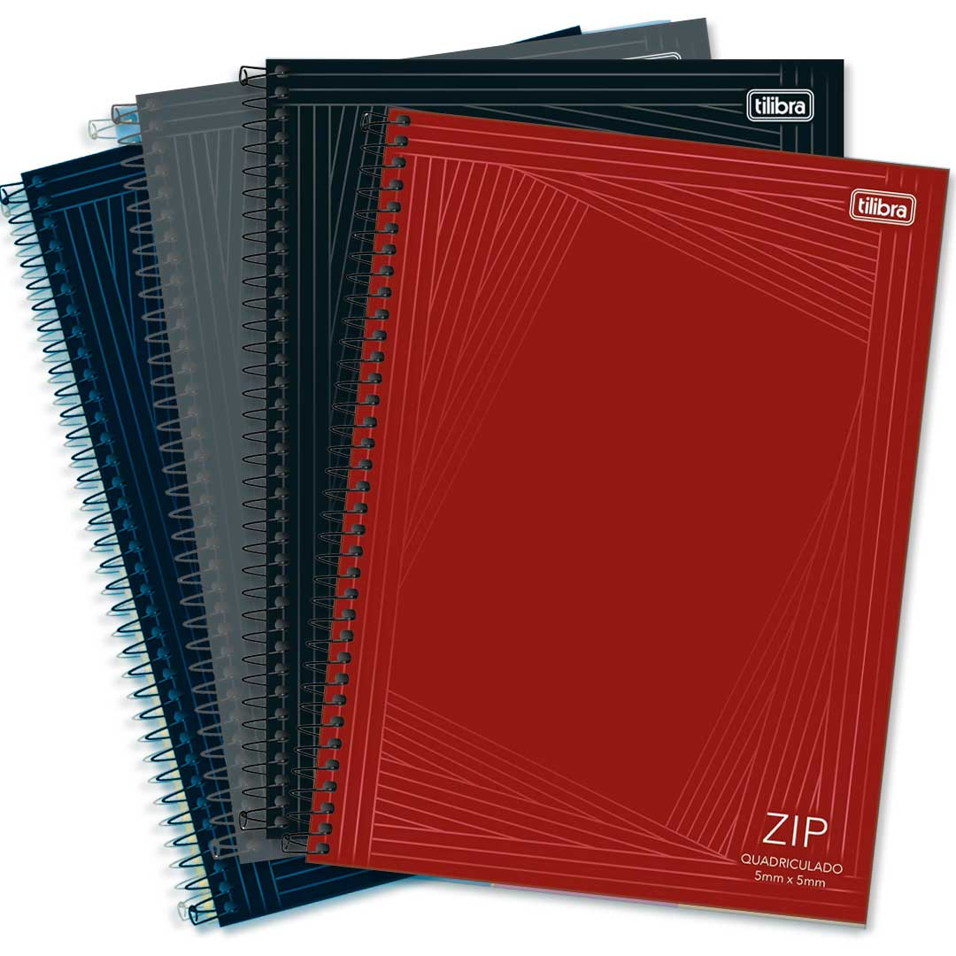 CADERNO CD UNIVERSITARIO QUADRICULADO 0.5 ZIP 80FLS 236047 TILIBRA