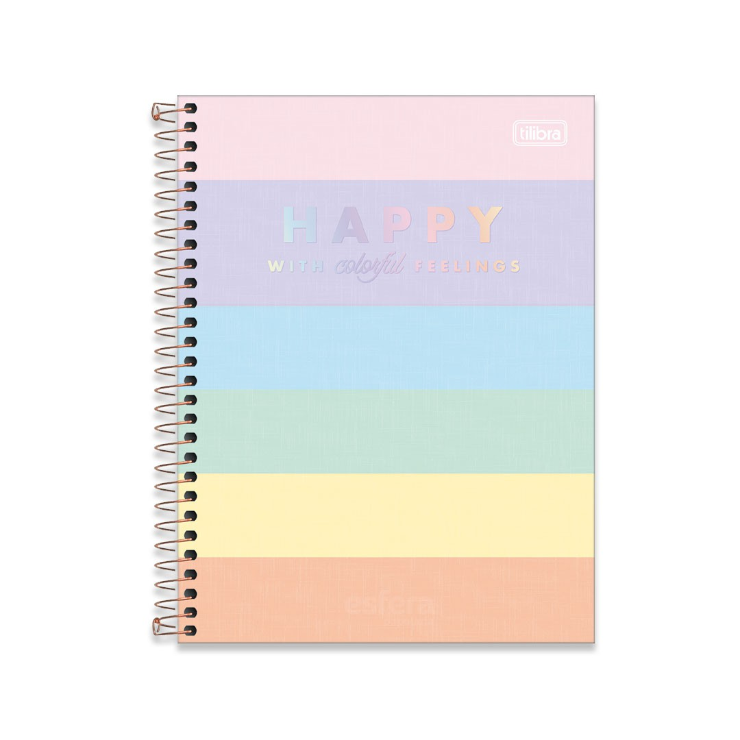 CADERNO COLEGIAL HAPPY COLOR 1M 80F 310204 TILIBRA