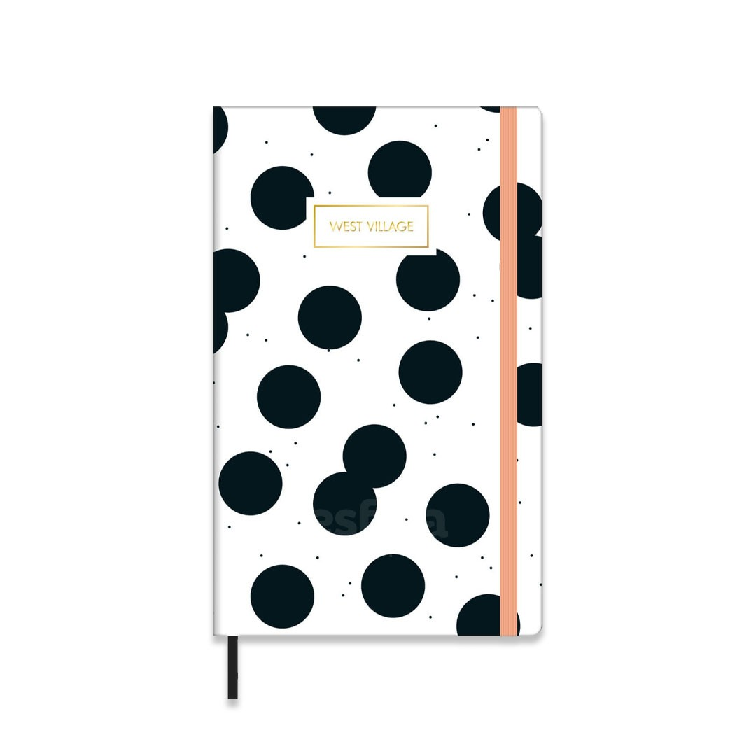 CADERNO COSTURADO PONTILHADO FITTO WEST VILLAGE GRANDE 80 FOLHAS 290106 TILIBRA