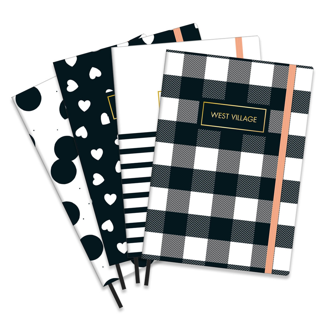 CADERNO COSTURADO PONTILHADO FITTO WEST VILLAGE MEDIO 80 FOLHAS 302988 TILIBRA