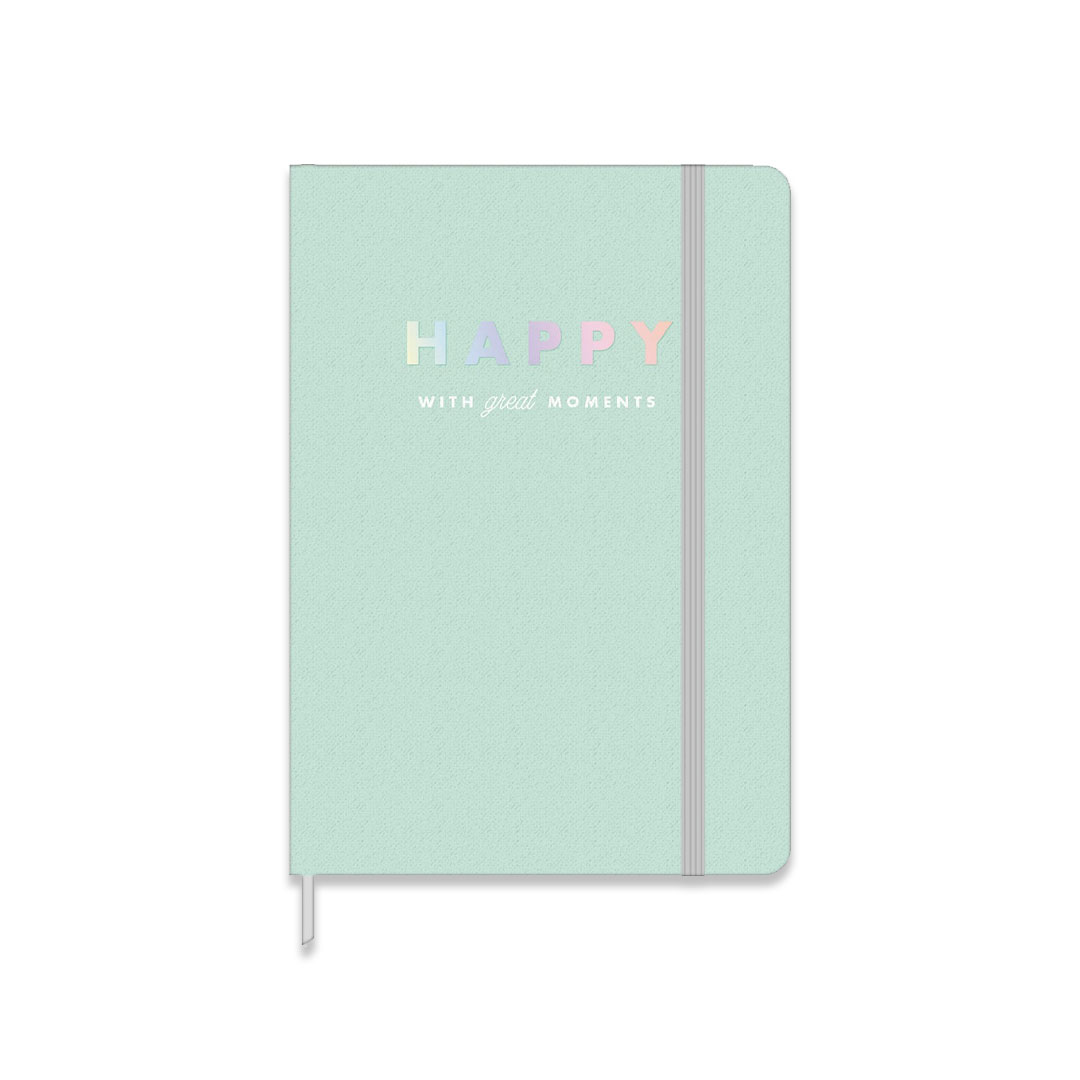 CADERNO COSTURADO SEM PAUTA FITTO HAPPY MEDIO 80 FOLHAS 304484 TILIBRA