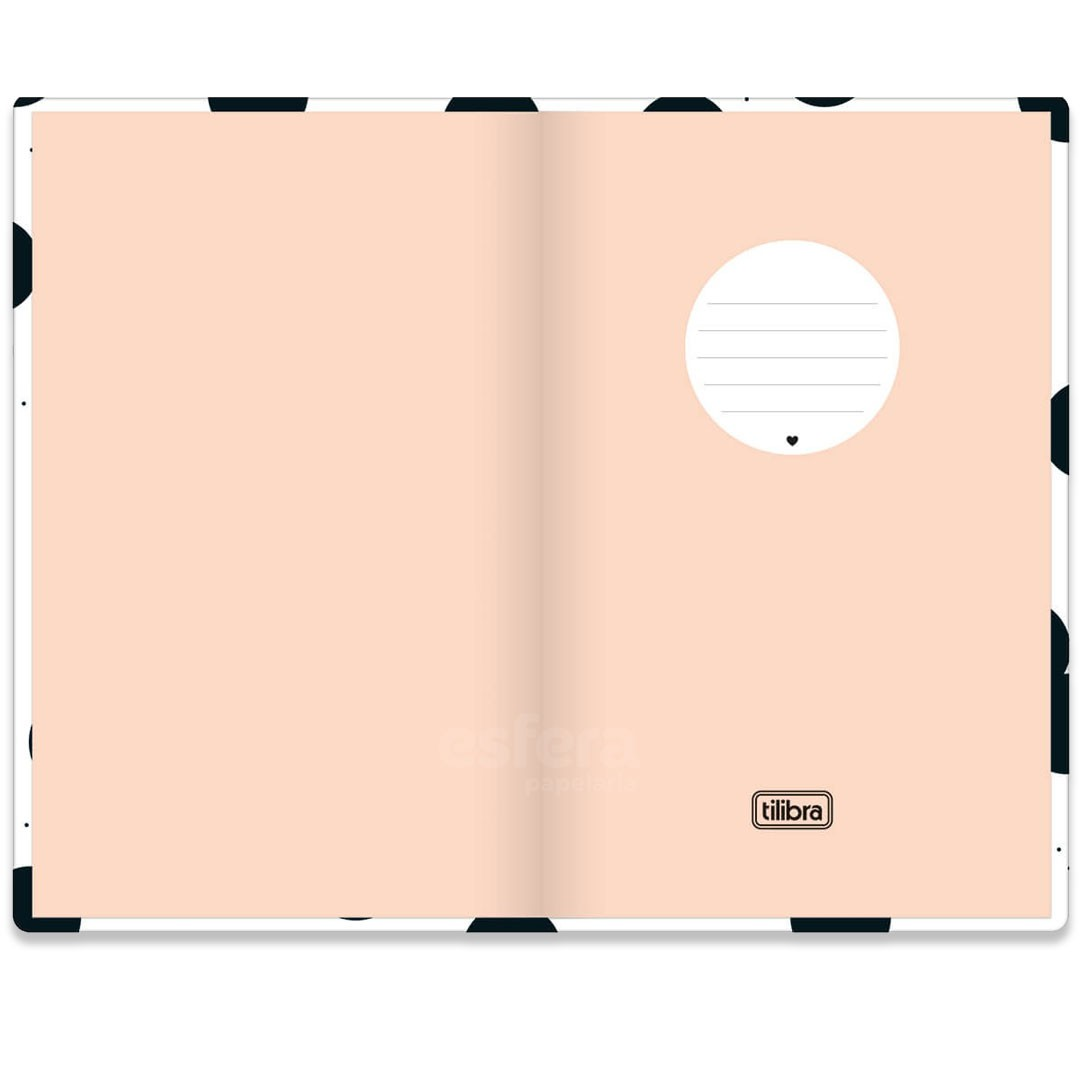 CADERNO COSTURADO SEM PAUTA FITTO WEST VILLAGE GRANDE 80 FOLHAS 302996 TILIBRA