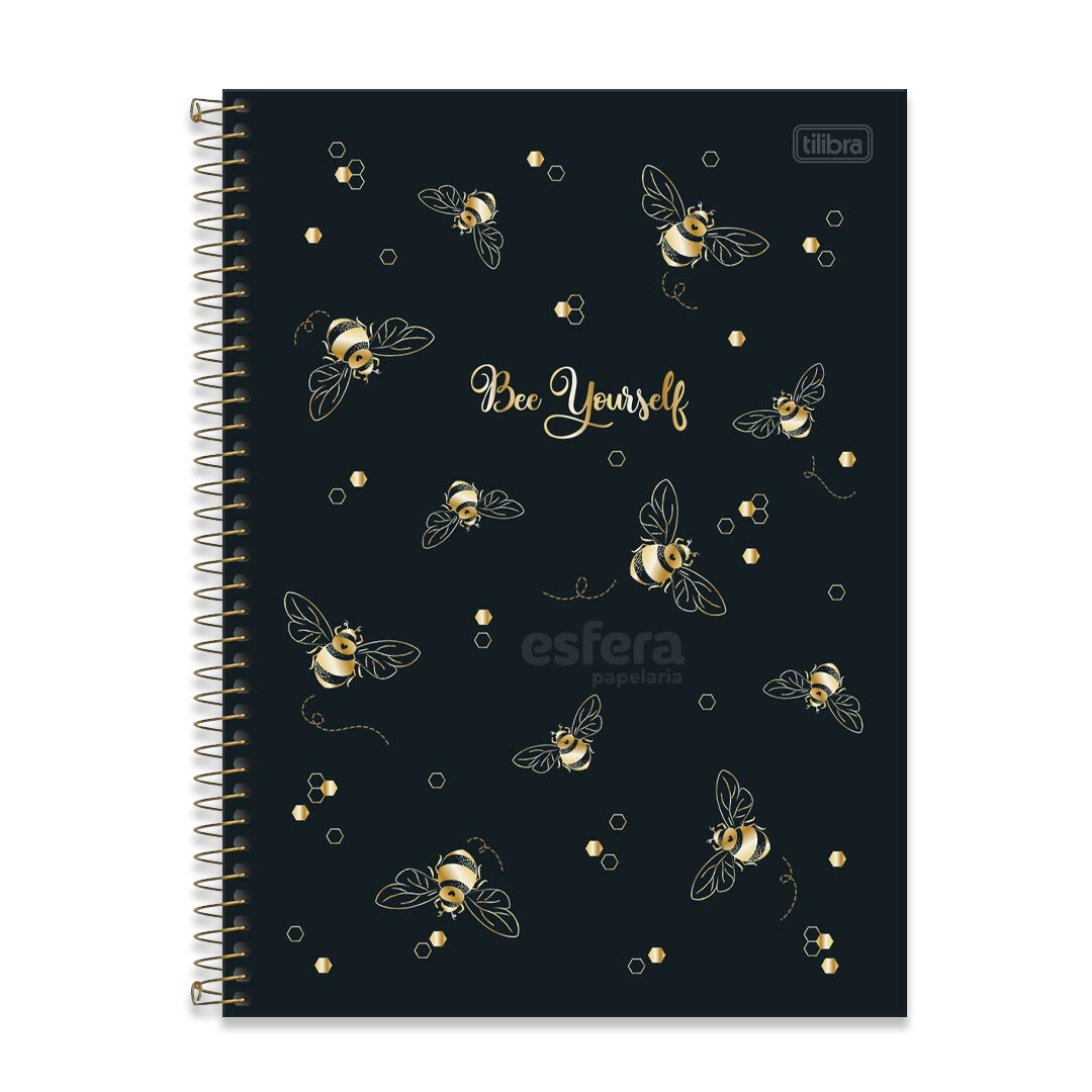 CADERNO UNIVERSITARIO HONEY BEE 10 MATÉRIAS 160 FOLHAS TILIBRA