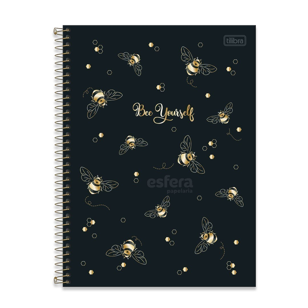 CADERNO UNIVERSITARIO HONEY BEE 1 MATÉRIA 80 FOLHAS TILIBRA