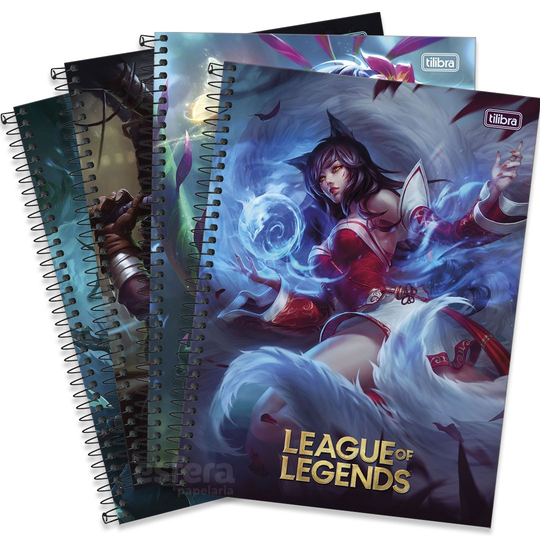CADERNO UNIVERSITARIO LEAGUE OF LEGENDS 10 MATERIAS 160 FOLHAS 309982 TILIBRA