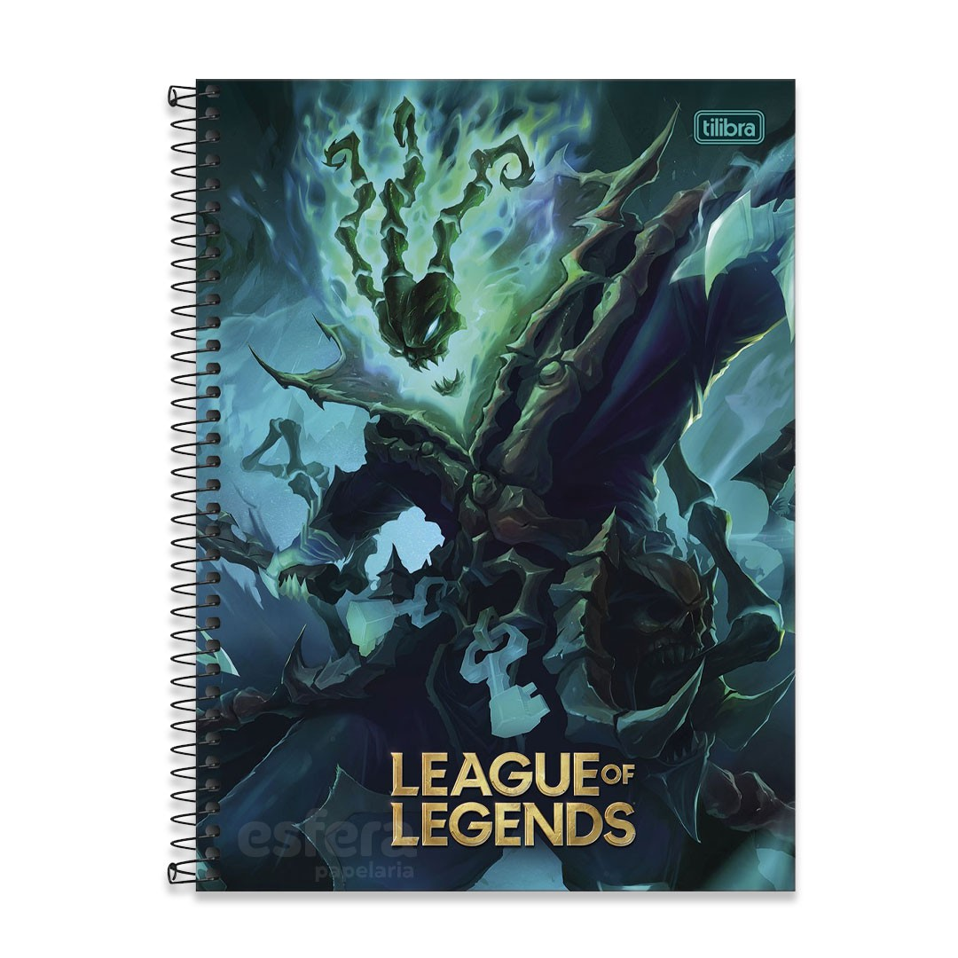 CADERNO UNIVERSITARIO LEAGUE OF LEGENDS 1M 80F 309460 TILIBRA