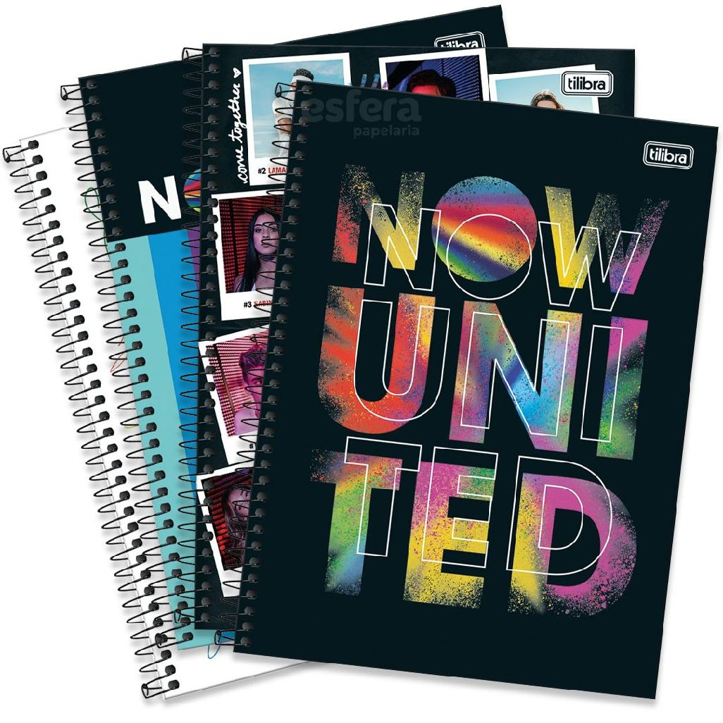 CADERNO UNIVERSITARIO NOW UNITED 10 MATERIAS 160 FOLHAS 318213 TILIBRA