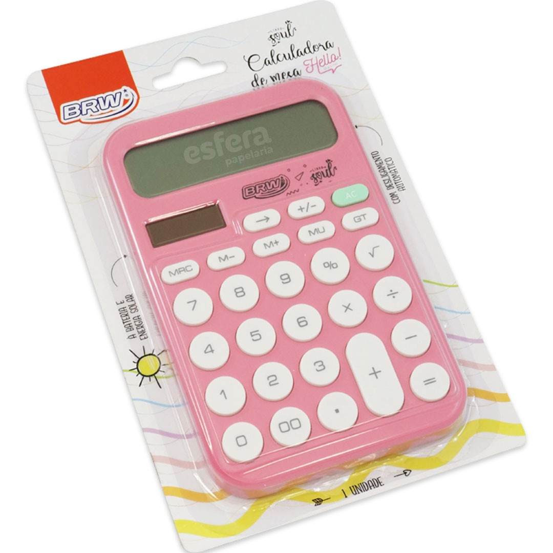 CALCULADORA 12 DIGITOS GRANDE BRW