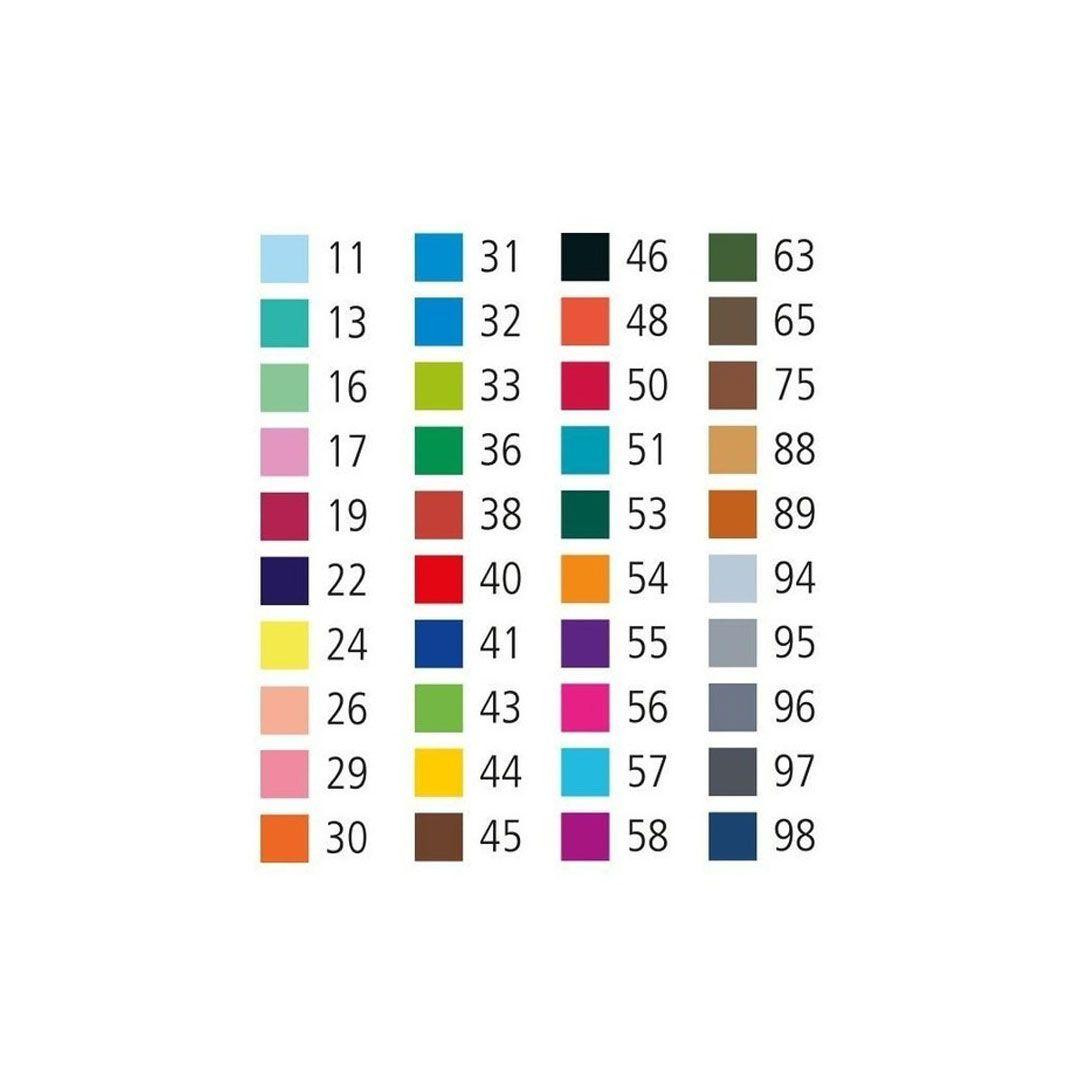 CANETA HIDROGRAFICA POINT 88 ESTOJO COM 40 CORES SORTIDAS 8840-1 STABILO